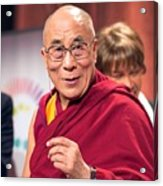 His Holiness The 14th Dalai Lama Photo By Christopher Michel 2012 Acrylic Print