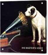 His Master's Voice - Hmv - Dog And Gramophone - Vintage Advertising Poster Acrylic Print