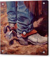 His Silver Spurs Painting Cowboy Art Acrylic Print