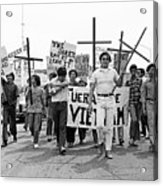 Hispanic Anti-viet Nam War March 1 Tucson Arizona 1971 Acrylic Print