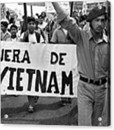 Hispanic Anti-viet Nam War March 2 Tucson Arizona 1971 Acrylic Print