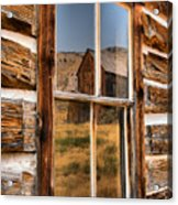 Historic Bannack Mining Reflections Acrylic Print
