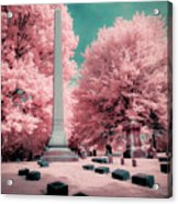 Historic Cemetery In Infrared Acrylic Print