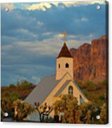 Historic Church In Superstition Mountain State Park Acrylic Print