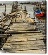 Historic Fishing Pier In Portugal I Acrylic Print