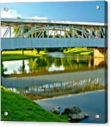 Historic Halls Mill Bridge Reflections Acrylic Print
