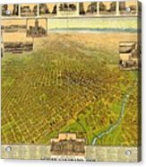 Historic Map Of Denver Acrylic Print