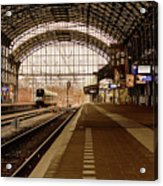 Historic Railway Station In Haarlem The Netherland Acrylic Print