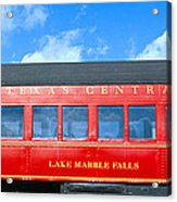 Historic Red Passenger Car, Austin & Acrylic Print