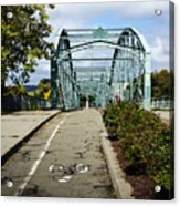Historic South Washington St. Bridge Binghamton Ny Acrylic Print