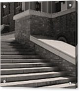 Historic Steps Little Rock Central High School Acrylic Print by Brian M Lumley