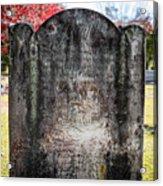 Historic Stone - Quaker Cemetery Acrylic Print