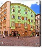 Historic Street Of Innsbruck Panoramic View Acrylic Print