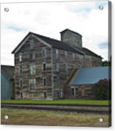 Historical Barron Wheat Flour Mill In Oakesdale Wa Acrylic Print