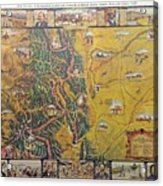 Historical Map Of Early Colorado Acrylic Print