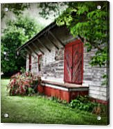 Historical Train Station In Belle Mina Alabama Acrylic Print