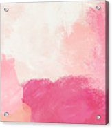History of Pink- Abstract Art by Linda Woods Acrylic Print