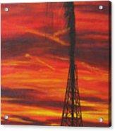 Hit Oil Acrylic Print