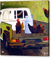 Hitchin' A Ride To Town Acrylic Print