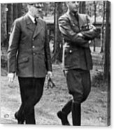 Hitler Strolling With Albert Speer Unknown Date Or Location Acrylic Print