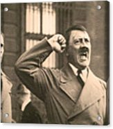 Hitler The Orator Acrylic Print by Al Bourassa