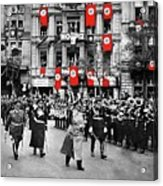 Hitler With Goering And Himmler Marching In Munich Germany C.1934-2016  Acrylic Print