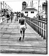 Hitting The Boardwalk Acrylic Print