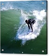 Hitting The Wave Acrylic Print