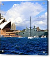 Hmas Adelaide Helps Sydney Celebrate Acrylic Print
