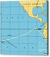 H.m.s. Beagle Course To Galapagos Acrylic Print