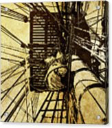 Hms Bounty - Up The Mast - 2 Acrylic Print