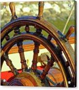 Hms Bounty Wheel Acrylic Print