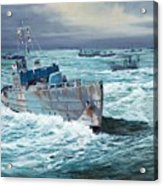 Hms Compass Rose Escorting North Atlantic Convoy Acrylic Print