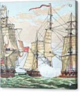 Hms Shannon Vs The American Chesapeake Acrylic Print