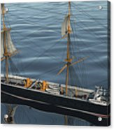 Hms Warrior 1860 - Stern To Bow Ocean Acrylic Print