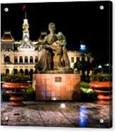 Ho Chi Minh City Hall At Night Acrylic Print