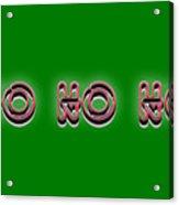 Ho Ho Ho Christmas Tee Acrylic Print