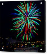 Hobart New Years Eve Fireworks Acrylic Print