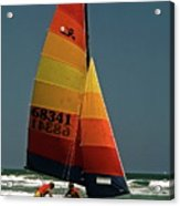 Hobie Cat In Surf Acrylic Print
