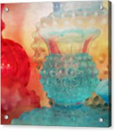 Hobnail Glassware Acrylic Print