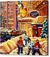 Hockey Fever Hits Montreal Bigtime Acrylic Print