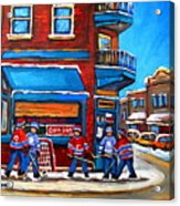 Hockey Game At Wilensky's Acrylic Print