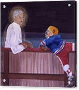 Hockey God Acrylic Print