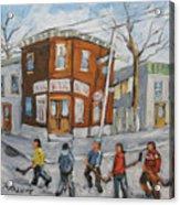 Hockey Town Montreal Created By Prankearts Acrylic Print