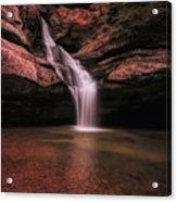 Hocking Hills Cedar Falls Long Exposure Acrylic Print