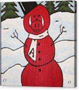 Hog Snowman Acrylic Print