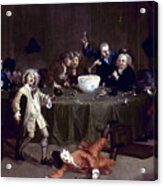 Hogarth: Midnight, 1731 Acrylic Print