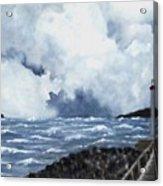 Hogsteinen Lighthouse Acrylic Print