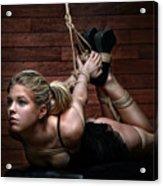 Hogtie - Tied Up Girl - Fine Art Of Bondage Acrylic Print by Rod Meier