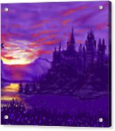 Hogwarts In Purple Acrylic Print